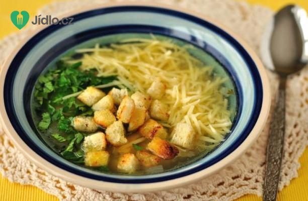 Česneková polévka se sýrem