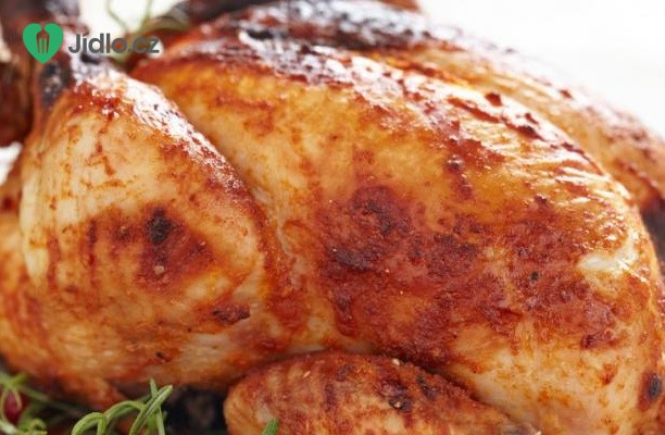 Pomalu pečené kuře s brambory
