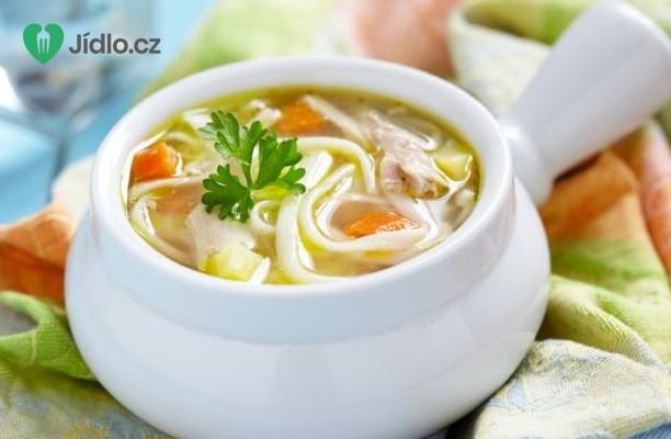 Asijská kuřecí nudlová polévka