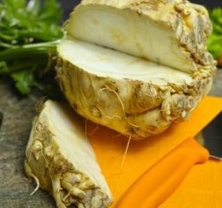 Gratinovaný celer se sýrem feta