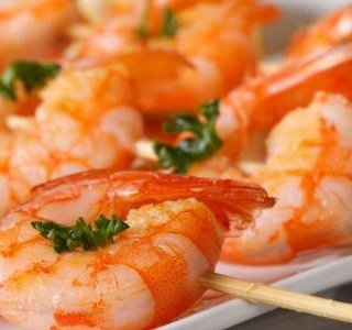Grilované česnekové krevety
