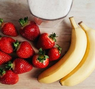 Jahodovo banánové smoothie