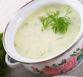 Koprová polévka bez lepku
