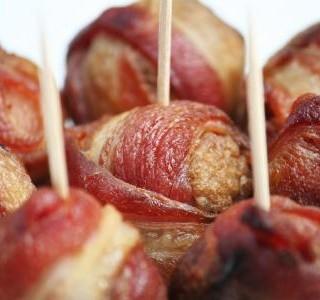 Kuřecí  masové kuličky ve slanině