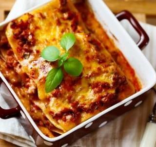 Lasagne s mletým hovězím masem