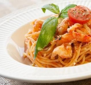 Rychlé krevety se špagetami