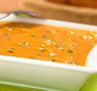 Sladká bramborová polévka