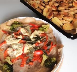 Vepřové plátky se zeleninou