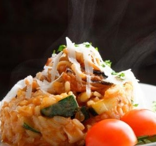 Zapečené rizoto s parmezánem