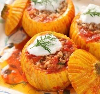 Zapečené kulaté cukety s rajčaty