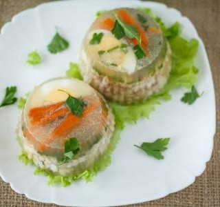 Zeleninový aspik s vejci