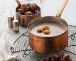 Krémová polévka z pečených kaštanů