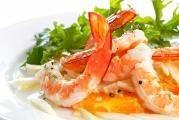 Krevetový salát s fenyklem a červenými pomeranči