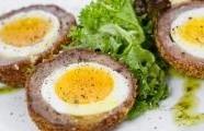 Skotská vejce  s kari majonézou
