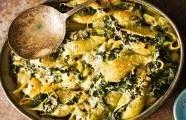 Těstoviny se špenátem a parmazánem