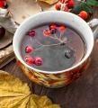 Chutný čaj z černé jeřabiny