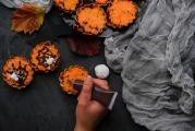 Halloweenské muffiny