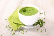 Hrachová polévka s mátou