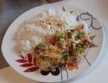 Zapečená vepřová kotleta s rýží